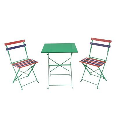 Bộ bàn ghế xếp cafe ngoài trời nhiều màu