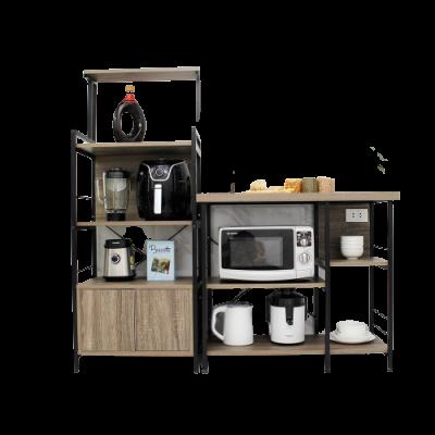 Kệ bếp gỗ nhiều ngăn có tủ tiện lợi