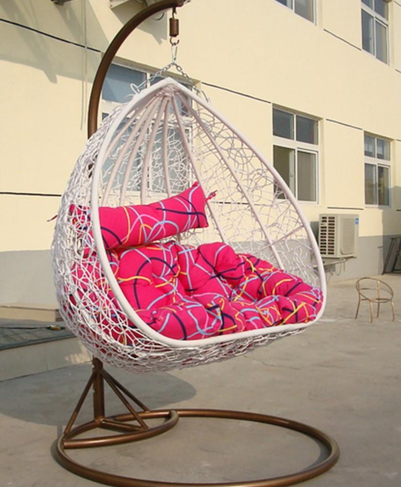 ghế trứng xích đu dây nhựa giả mây