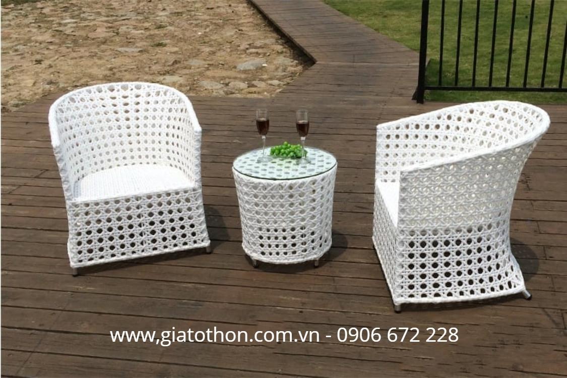 Nội thất mây nhựa bàn ghế cafe