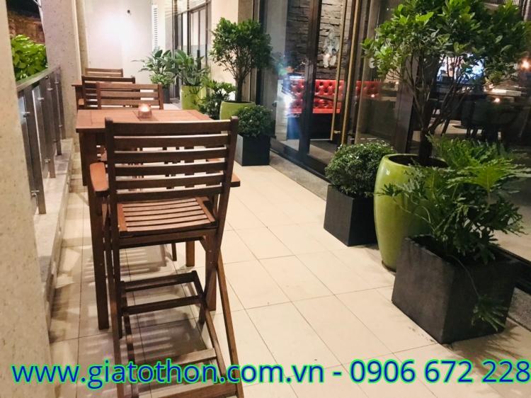 bàn ghế cafe gỗ giá rẻ