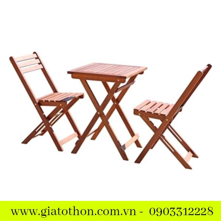 bàn ghế cà phê gỗ thanh lý