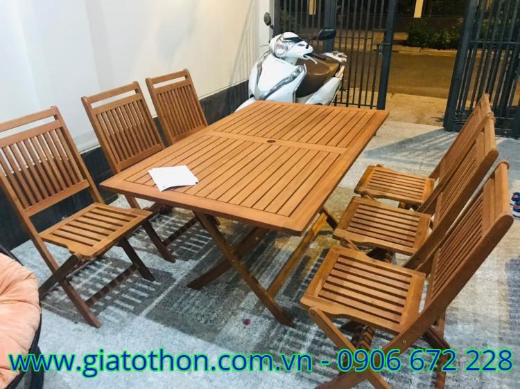 bàn ghế gỗ ngoài trời đẹp