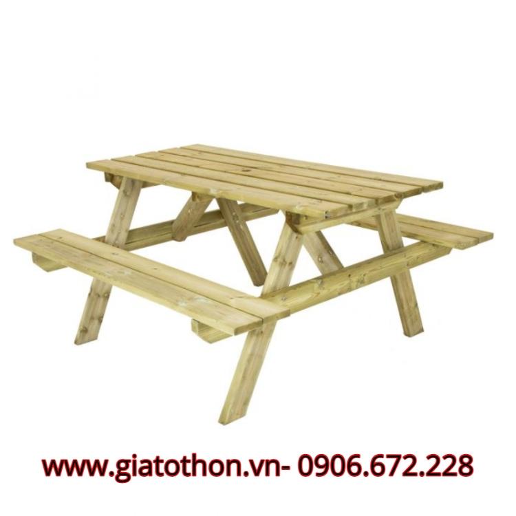 bộ bàn ghế sân vườn bằng gô chất lượng