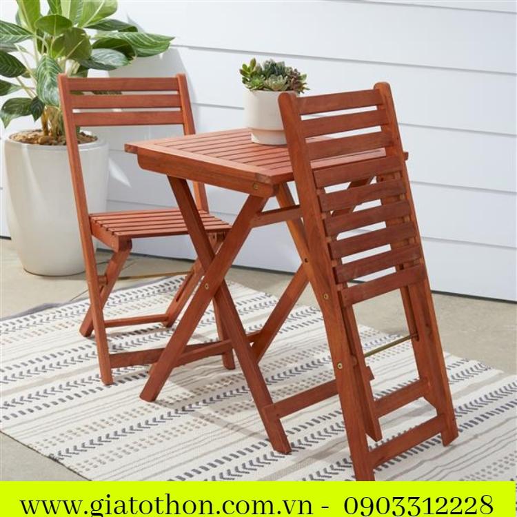 mẫu bàn ghế gỗ cà phê đẹp