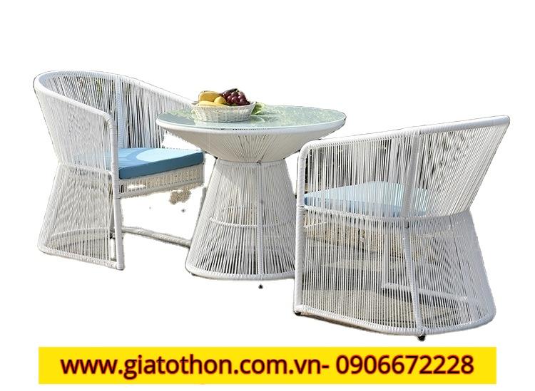 nới thiết kế ghế nhựa mây composite